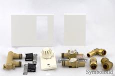 Thermostat Anschluss Links für Heizleiste Art-Deco Classic weiß