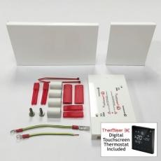 Komplettes linkes Anschluss-Set mit Thermostat für Elektrische Heizleiste Pro-Classic Profil weiß
